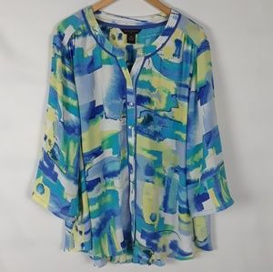 Investments water color blouse size 3X